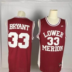 Kobe Bryant High School basketball Jersey Red